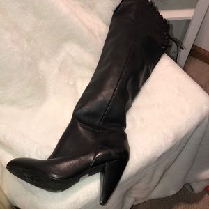 BCBGeneration Shoes - BCBG long black heeled boot size 7 1/2